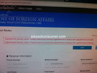 Dfa Passport Appointment System - Good day sir/mam