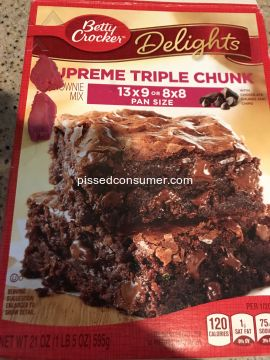 Betty Crocker Supreme Triple Chunk Brownie Baking  Mix