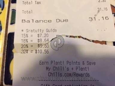 "Chilis - ""Gratuity Guide"""
