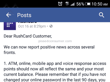Rushcard Account Review from Atlanta, Georgia