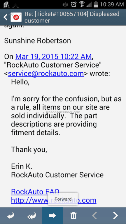 Rockauto Customer Service >> 3129 Rockauto Reviews And Complaints Page 309 Pissed Consumer