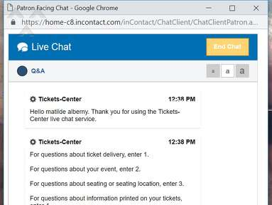 Tickets Center - Tickets-Center not the same at Ticket Center, ticket online HORRIBLE