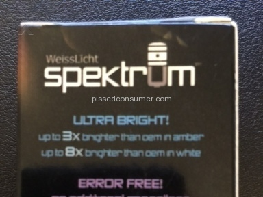 "Bimmian - Dishonest company selling ""error free bulbs"" which ARE NOT!"