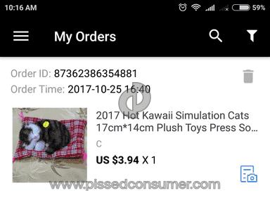 Aliexpress -  2017 hot kawaii simulation cats 17cm*14cm plush toys press sounding kittens stuffed doll kids room decoration birthday gifts 31cm-50cm