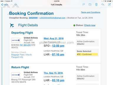 Cheapoair - Flight Booking Review from Elk Grove, California