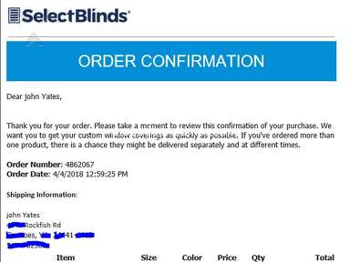 Select Blinds Blinds review 285524