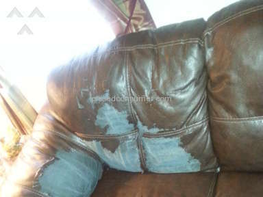 Ashley Furniture - Bought durablend leather couch and loveseat peeling and cracking.