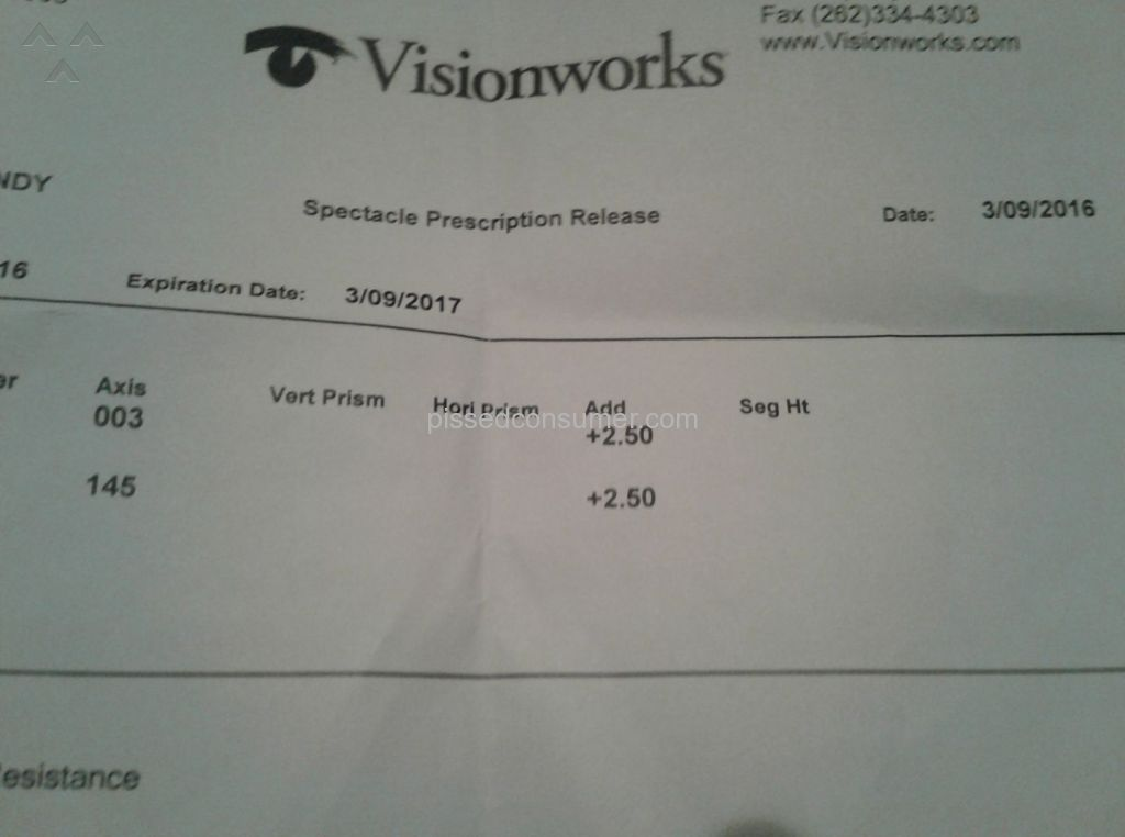 23 Visionworks Eye Exam Reviews And Complaints Pissed Consumer