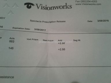Visionworks Eye Exam review 187544