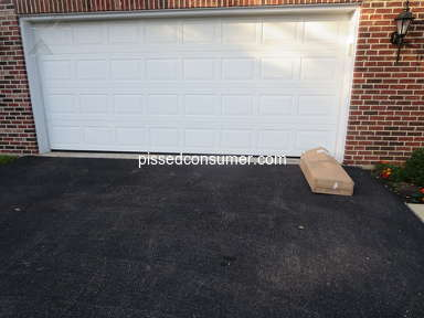 Fedex - Driver claimed delivery was a day earlier, then left it in the driveway, exposed to view from the street, and open to the weather.