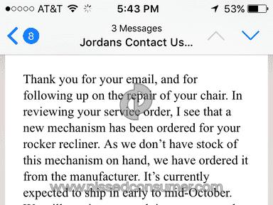 Jordans Furniture - Terrible service