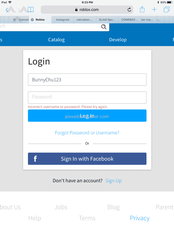 My Roblox Account Does Not Want To Open Mar 24 2018 At Pissed Consumer