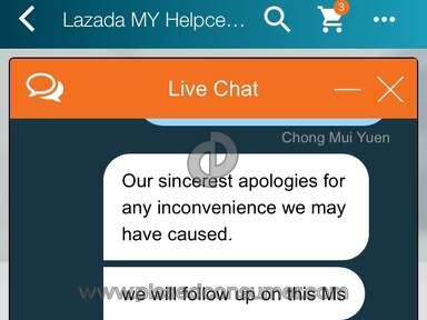 Lazada Malaysia - Order 202916137158881 undelivered