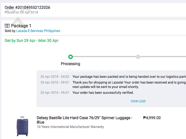 Lazada Philippines Shipping Service review 298154