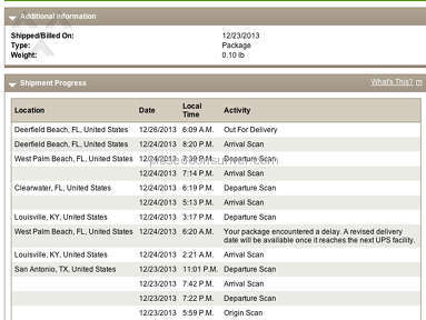 Ups Shipping review 33435
