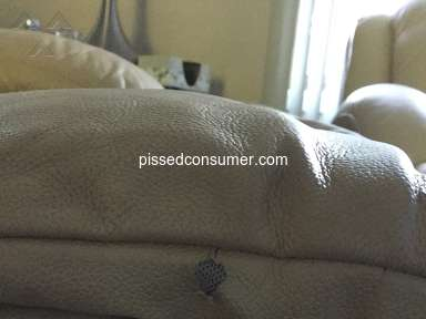 Bobs Discount Furniture - Poor material vinyl deamination, Leather upper vinyl lower