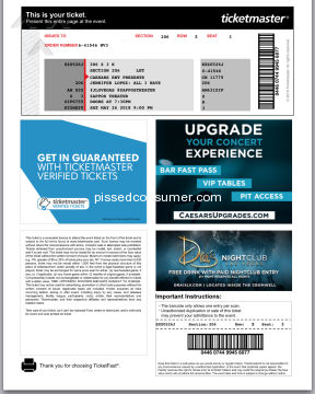 Viagogo Jennifer Lopez Concert Ticket