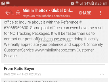 Miniinthebox - Wait 30 days. No 60 days. No 90. No refund