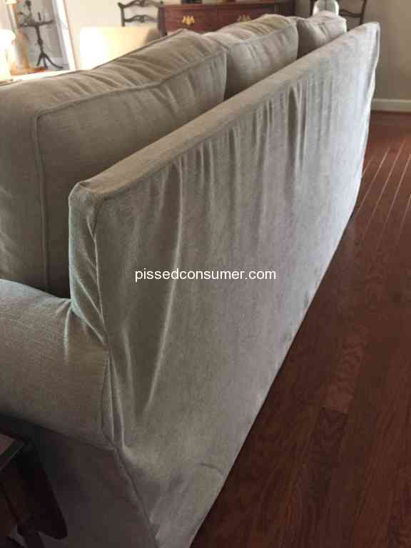 55 Pottery Barn Sofa Reviews And Complaints Pissed Consumer