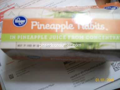 Kroger - Purchased Pineapples Tidbits and roach leg was in it