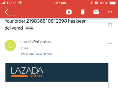 Lazada Philippines Delivery Service review 367830
