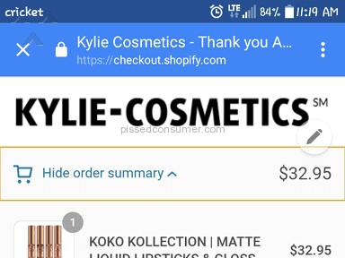 Shopify Kylie Cosmetics Shipping Service review 187054