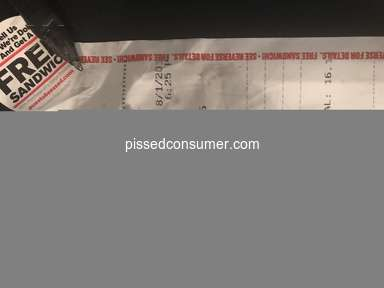 Checkers Drive In - Complaint against Associate