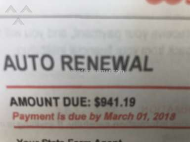 State Farm Insurance - State Farm increased my car insurance for no reason $400