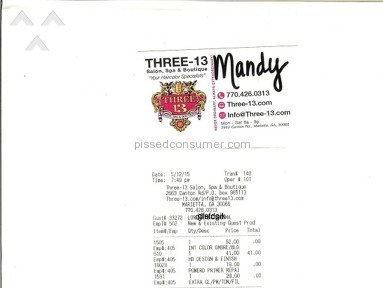 Three 13 Salon Beauty Salons and Spas review 71361