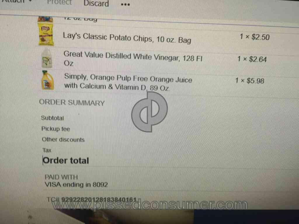 Walmart - Savings Catcher Receipt for Grocery Pickup Nov 08