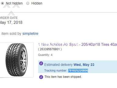 SimpleTire - Lied about delivery times
