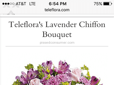 Teleflora Lavender Chiffon Bouquet review 131813