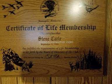 North American Hunting Club - Life Time member BS