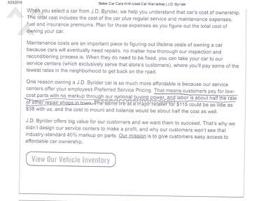 Jd Byrider Car Repair review 207444