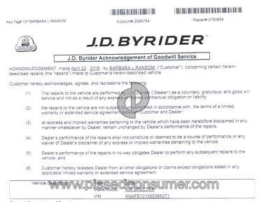 Jd Byrider Car Repair review 207442