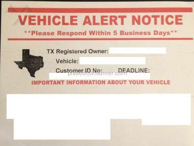 "Interstate National Dealer Services - ""VEHICLE ALERT NOTICE"" - They try to force a payment over the phone"