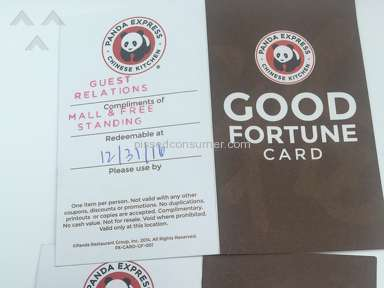 Panda Express - Coupon Review from Baltimore, Maryland