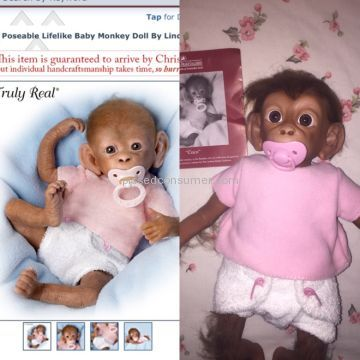 The Ashton Drake Galleries Monkey Coco Doll
