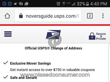 Usps - Changemyaddress - Change Of Address Review