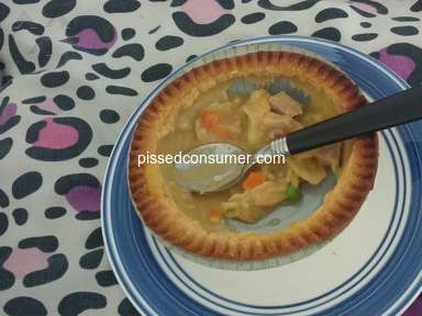 Banquet Meals - There was a bone in chicken pot pie