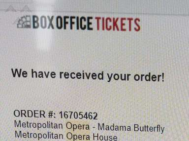 Box Office Tickets Madama Butterfly Theater Ticket review 239870