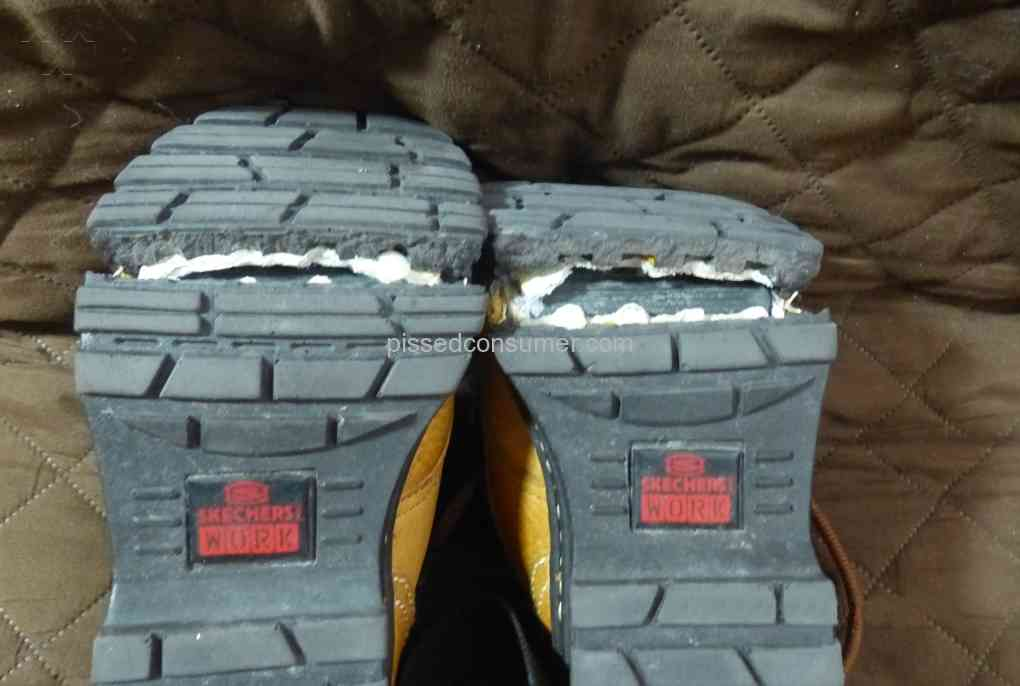 Skechers boots failed - sole cracked