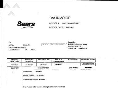 Sears Claim review 8002