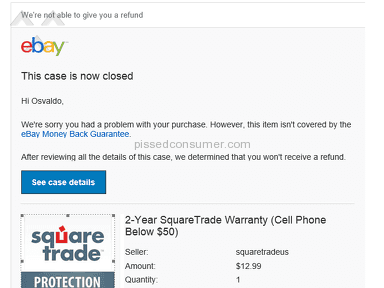 SquareTrade Warranty is running a scam in ebay