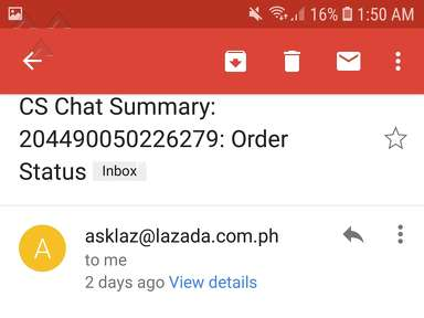 Lazada Philippines Shipping Service review 320894