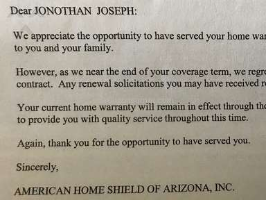 American Home Shield - Not Worth the Cost