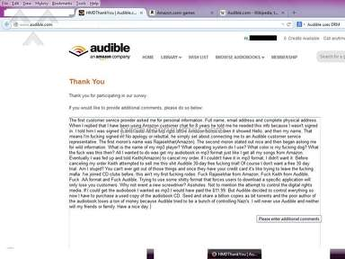 Audible, an Amazon company that sucks!