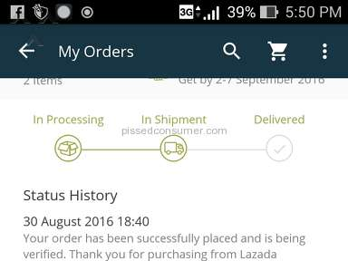 Lazada Philippines Shipping Service review 159562
