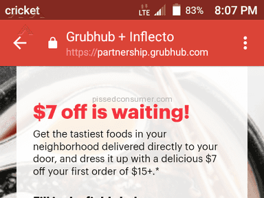 Grubhub - This is how you lose customers....