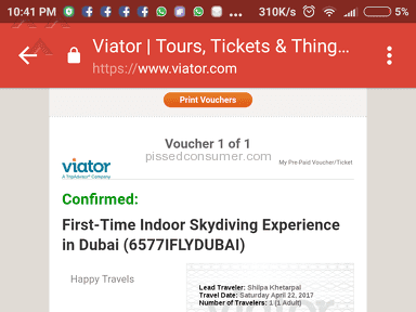 Viator First-time Indoor Skydiving Experience In Dubai Event Ticket review 204076